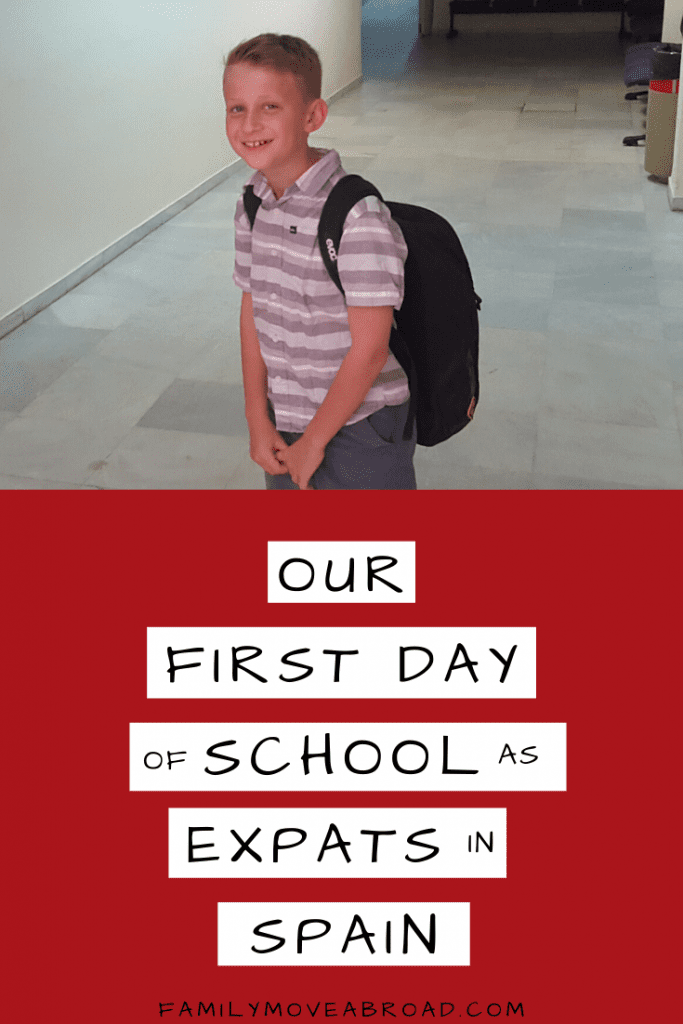 Expat Story Kids First Day School in Spain