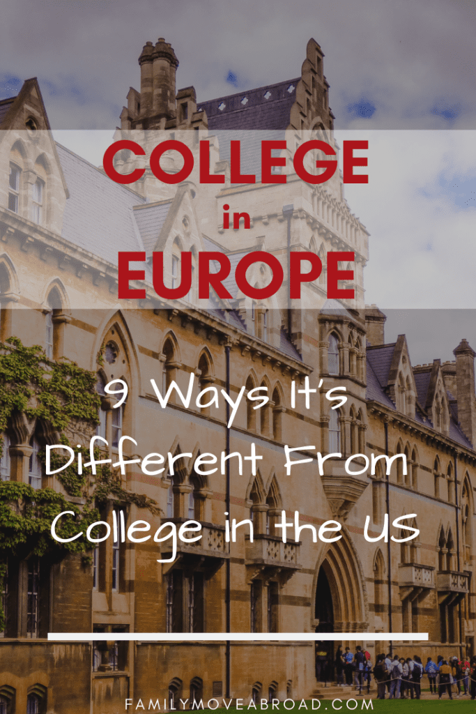 Differences Between College in Europe vs the US