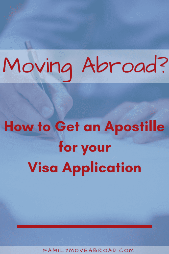 Birth certificates and other documents for your visa application require an Apostille